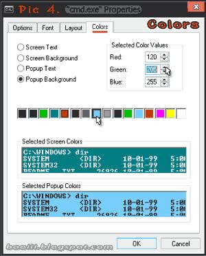 4.cmd Properties>colors