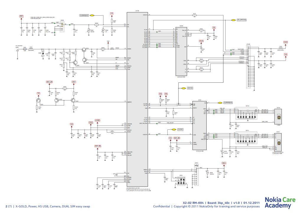 nokia x2-02 rm-694 schematics schematic diagram x2 02