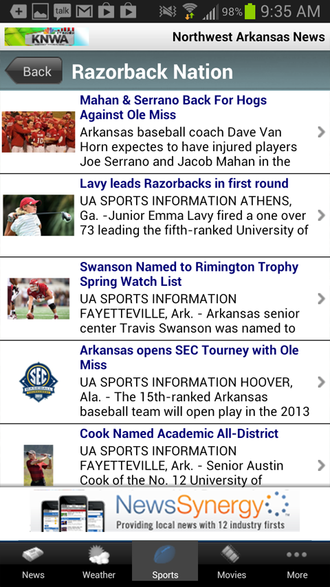 KNWA Northwest Arkansas News - screenshot