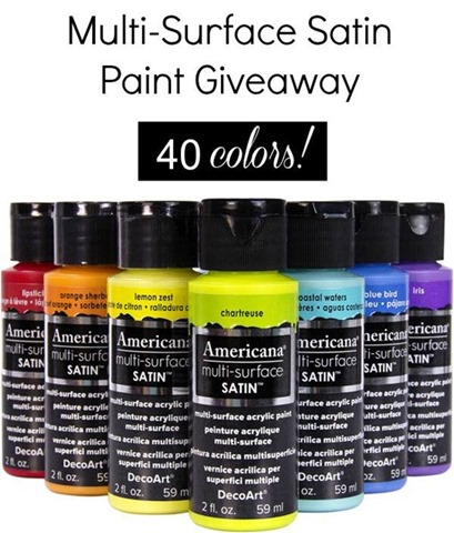 #Decoart Americana Multi-Surface Satin Paint Giveaway 40 colors!!! #giveaway #ad_thumb[3]