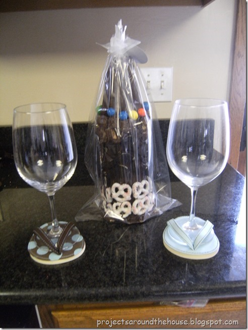 chocolate covered wine bottles tutorial DIY