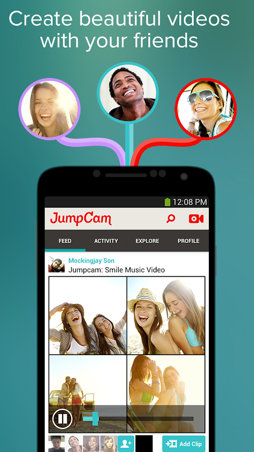 JumpCam - Friends Video Camera- screenshot