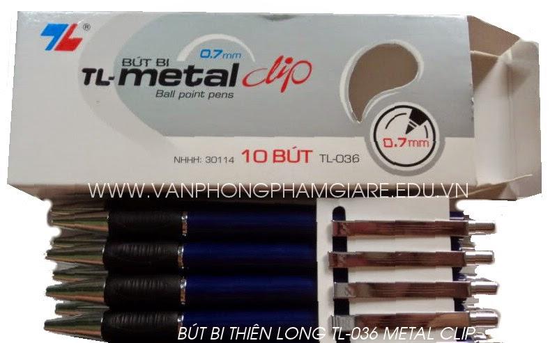 Bút bi Thiên Long Tl036 Metal Clip