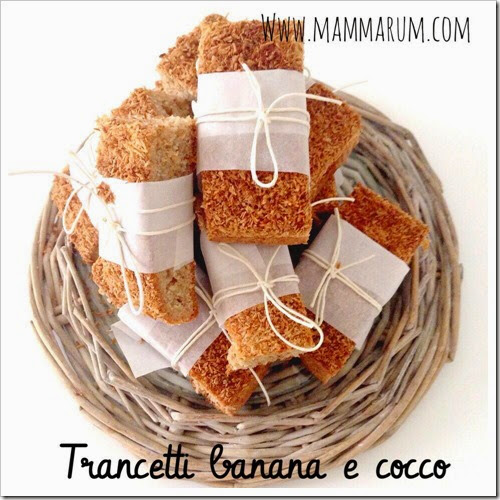 trancetti di banana e cocco