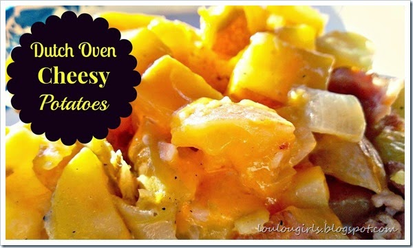 dutch oven cheesy potatoes