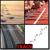 TRACK- 4 Pics 1 Word Answers 3 Letters