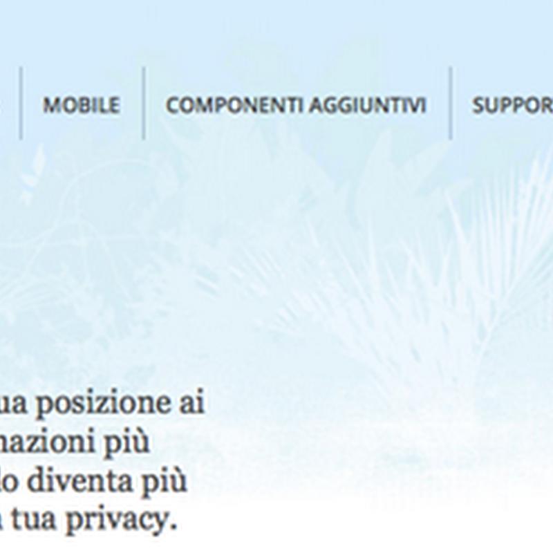 La navigazione geolocalizzata in Firefox.