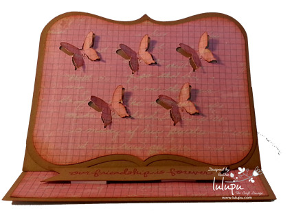 Easel Card - Butterflies flying - Lulupu The Craft Lounge - Ruthie DT - Silhouette Cameo