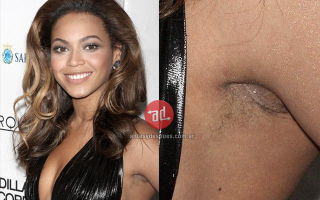 Photo of Beyonce with armpit hair
