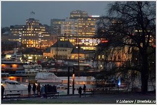 Вечерний Осло. Норвегия. Фото В.Лобанова.