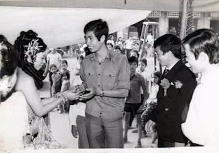 Hình tác giả, Campuchia 1985.