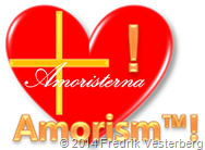 Hjärta kors utropstecken amorism