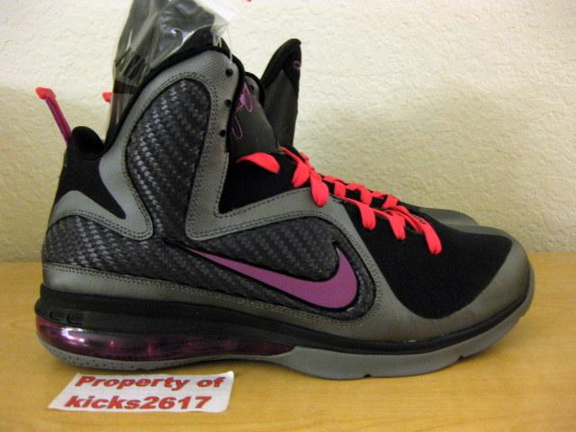 size 40 d8d65 6b66b Discount Buy Nike Lebron 9 iD Grey Black Purple