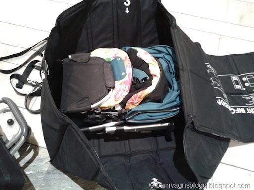 Airshells att flyga med barnvagn i skyddsväska Barnvagnsblogg