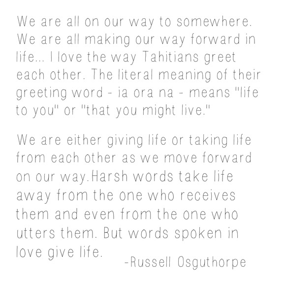 words that give life -- osguthrope