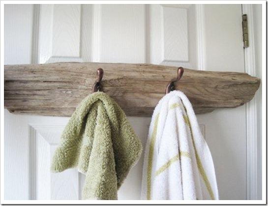 driftwood towel bar