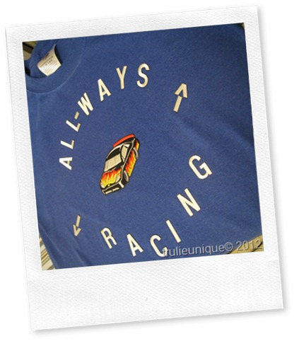 race car t, diy race car t