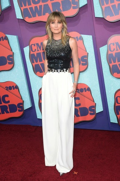 Jennifer Nettles Arrivals CMT Music Awards