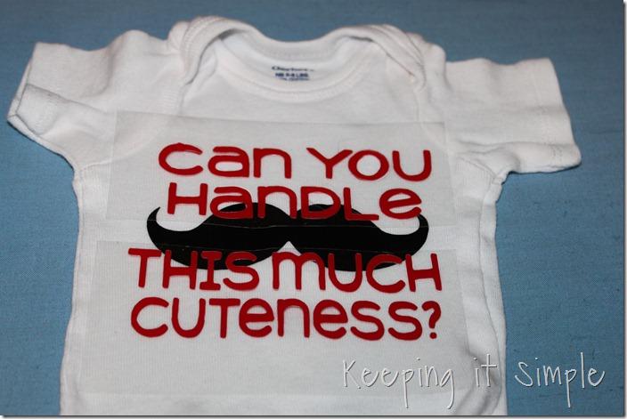 Mustache onesies (5)