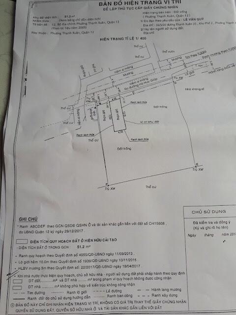 Bán nhà và đất thổ cư đường Thạnh Xuân Quận 12 -08