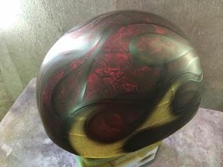 image - カスタムペイント工程 ダックテールヘルメット ラップペイントフレイムス