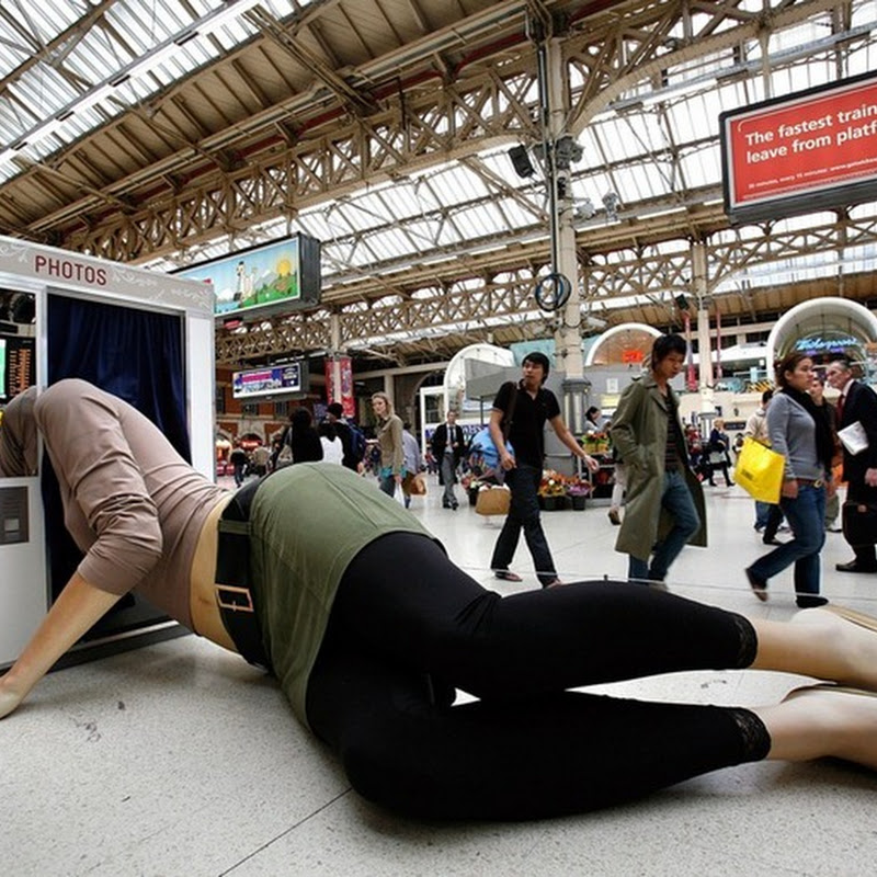 Creative Sculptures Promoting London Ink