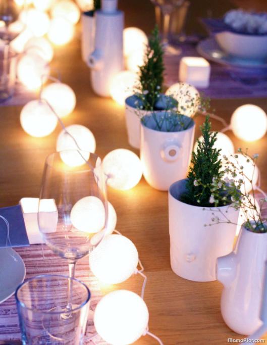 Centro de mesa iluminado con leds