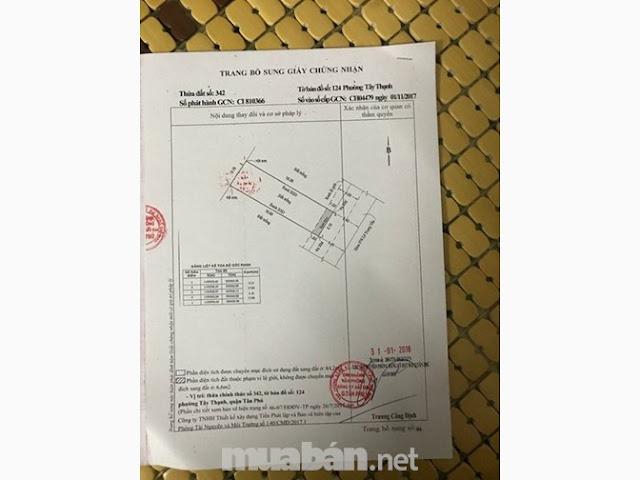 Bán đất hẻm xe hơi đường Lê Trọng Tấn Quận Tân Phú 2