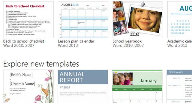 Templates para Word 2013