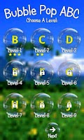 Screenshot of Bubble Pop ABC Kids Game