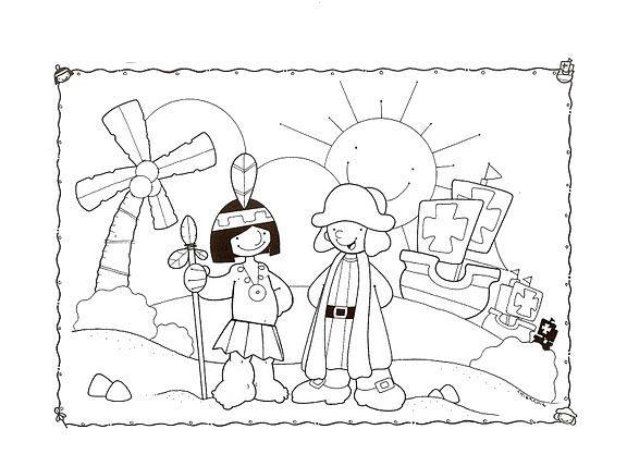 Dia De La Raza Dibujos