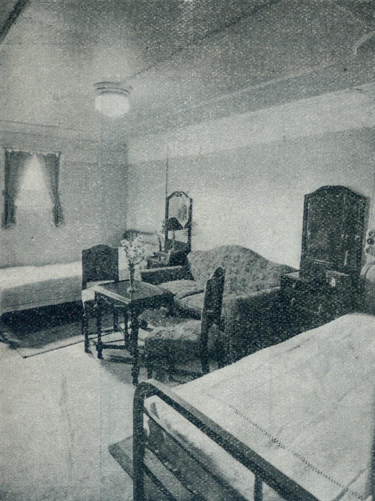 Camarote para dos pasajeros. Foto de la revista INGENIERIA NAVAL. AÑO XI. NUM 95. Mayo 1943.jpg