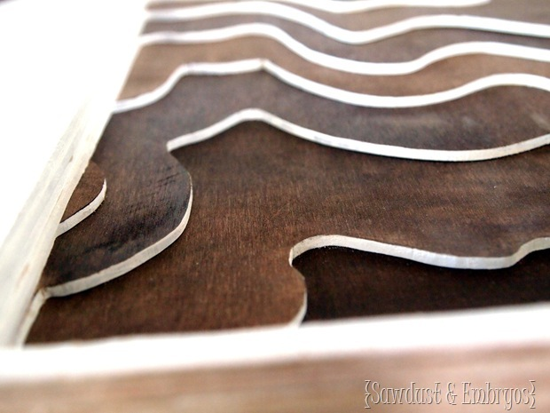 Wooden Topography Artwork of your land {Sawdust and Embryos}