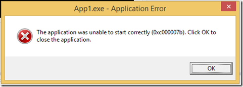 The Application Was Unable start Correctly (0xc000007b) – Visual