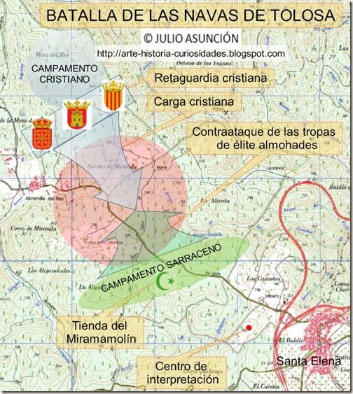 Navas De Tolosa Mapa.Arte Historia Y Curiosidades Batalla Navas De Tolosa