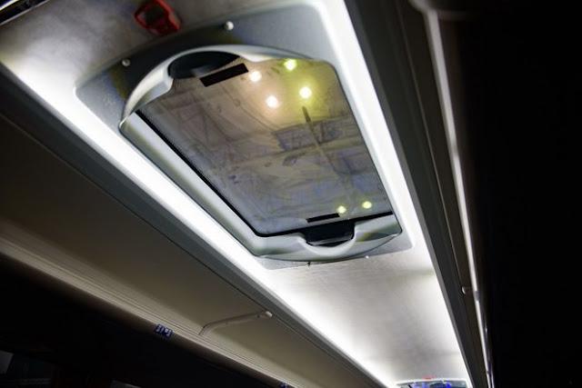 Hệ thống đèn trần xe 45 chỗ Scania