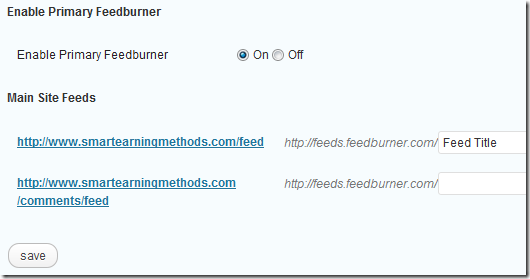 redirect wordpress feeds to feedburner