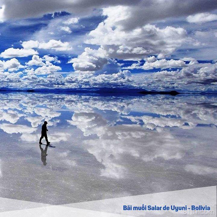 Chỉ cần 1 cơn mưa, bãi muối lớn nhất giới Salar de