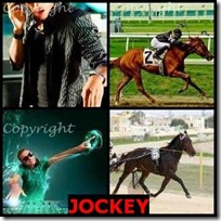 JOCKEY- 4 Pics 1 Word Answers 3 Letters