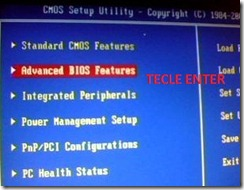 Imagem advanced bios features