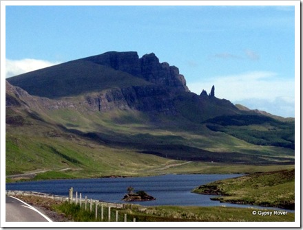 Spectacular rock formations on Skye.