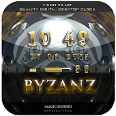 byzanz digital clock widget