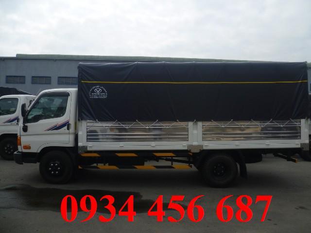 Mua bán xe tải 7 tấn HD99 thùng bạt trả góp qua ngân hàng