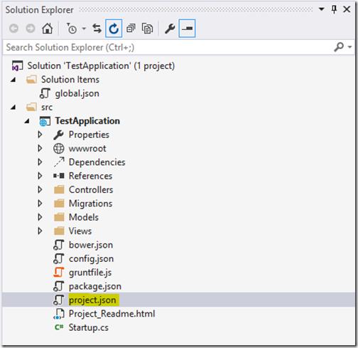 solution-explorer-project-json