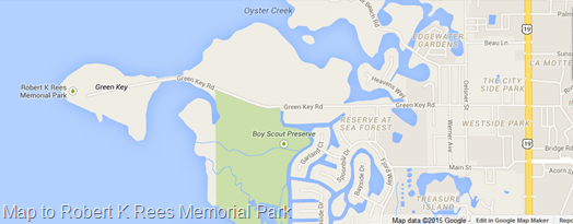 Map to Robert K Rees Memorial Park