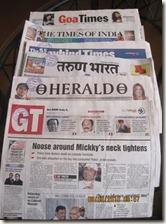 The Big Goan - Goa Holiday Blog: Goan newspaper circulation
