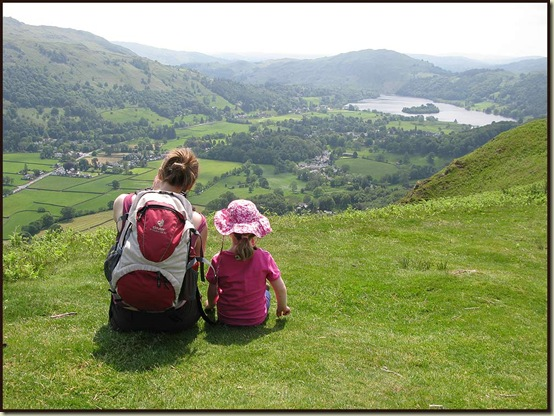 Pausing on the steep ascent of Helm Crag