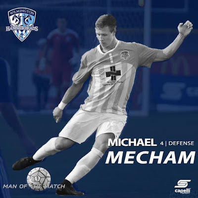 Last nights man of the match is Michael Mecham Stay tuned today