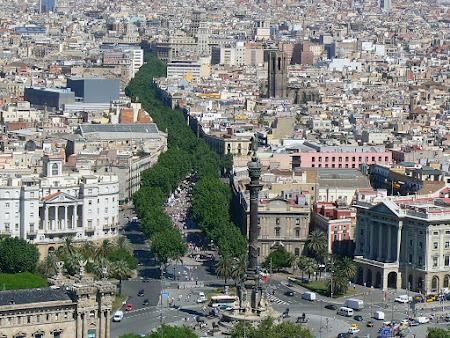 Obiective turistice gratis Barcelona: Rambla