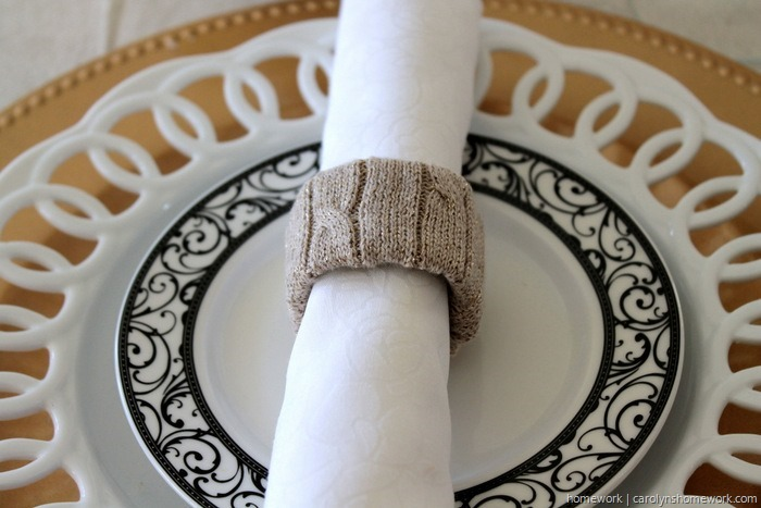 Upcycled Sweater Napkin Rings via homework (3)